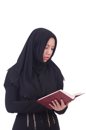 Young muslim female student with books Stock Photo - 22327792