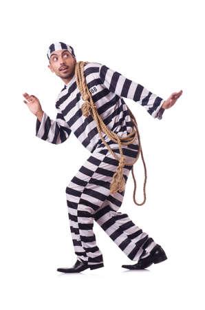 Convict criminal in striped uniform Stock Photo - 22327198