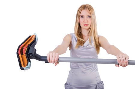 Woman doing housekeeping stuff at home photo
