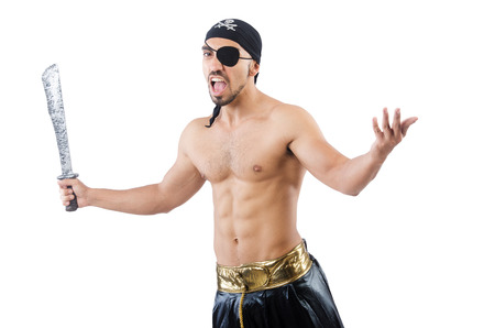 Man in pirate costume in halloween concept Stock Photo - 22475809