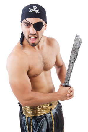 Man in pirate costume in halloween concept Stock Photo - 22475810