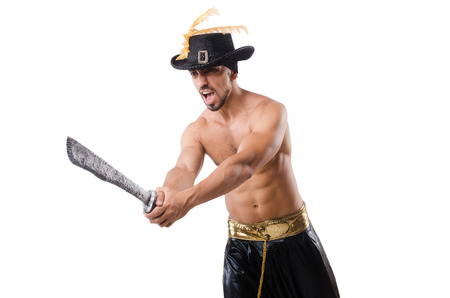Man in pirate costume in halloween concept Stock Photo - 22475812