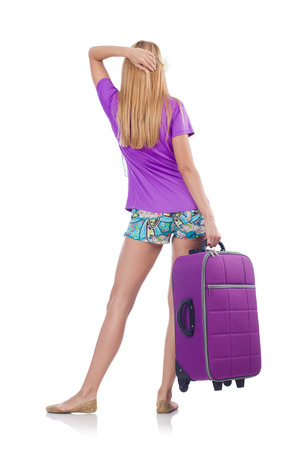 Woman preparing for travel on summer vacation Stock Photo - 22475831