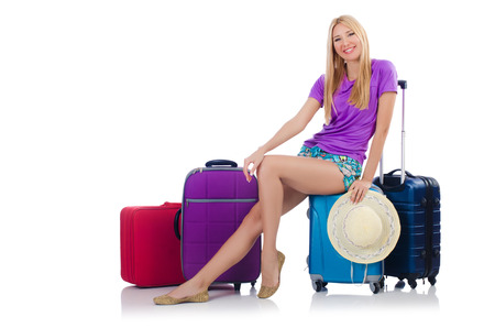 Woman preparing for travel on summer vacation Stock Photo - 22475833
