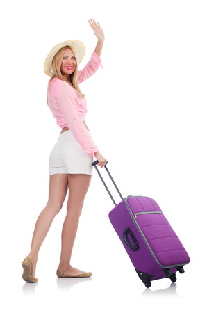 Woman preparing for travel on summer vacation Stock Photo - 22475841