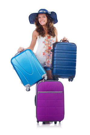 Woman preparing for travel on summer vacation Stock Photo - 22461719