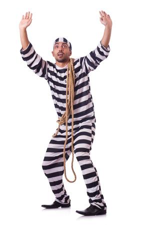 Convict criminal in striped uniform Stock Photo - 22454736