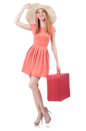 Young woman preparing for vacation Stock Photo - 22476062