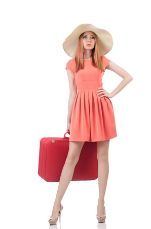Young woman preparing for vacation Stock Photo - 22476064