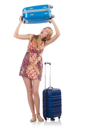 Woman preparing for travel on summer vacation Stock Photo - 22581006