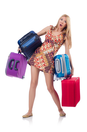 Woman preparing for travel on summer vacation Stock Photo - 22581007