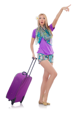 Woman preparing for travel on summer vacation Stock Photo - 22581011