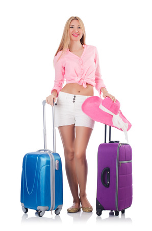Woman preparing for travel on summer vacation Stock Photo - 22581019