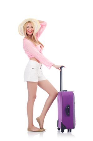 Woman preparing for travel on summer vacation photo