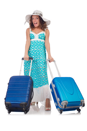Woman preparing for travel on summer vacation Stock Photo - 22581034