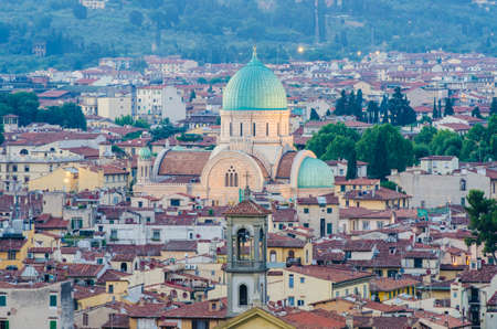 Jewish Synagogue of Florence from top Stock Photo - 22581194