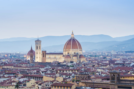 Florence cityscape in dusk hours Stock Photo - 22581195