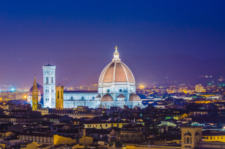Nice view of florence during evening hours Stock Photo - 22581222