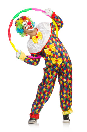 Clown isolated on white photo