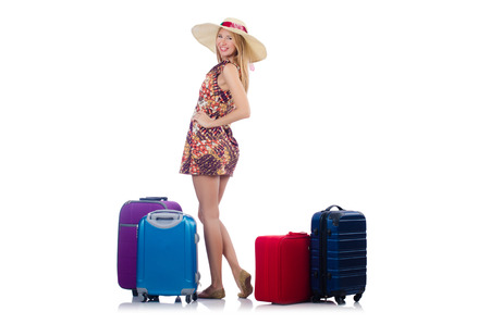 Woman preparing for travel on summer vacation Stock Photo - 22939752