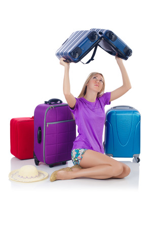 Woman preparing for travel on summer vacation Stock Photo - 23081529
