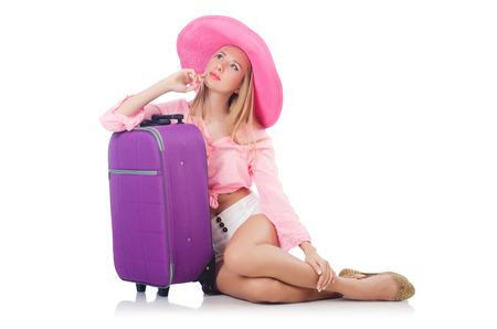 Woman preparing for travel on summer vacation Stock Photo - 23081536