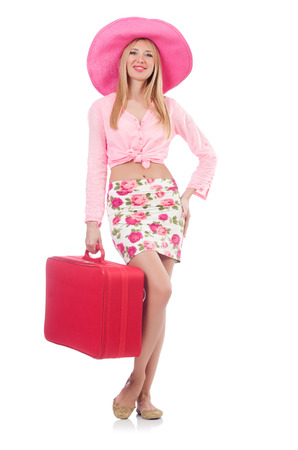 Woman preparing for travel on summer vacation Stock Photo - 23081543