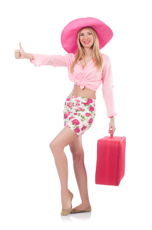 Woman preparing for travel on summer vacation Stock Photo - 22939765