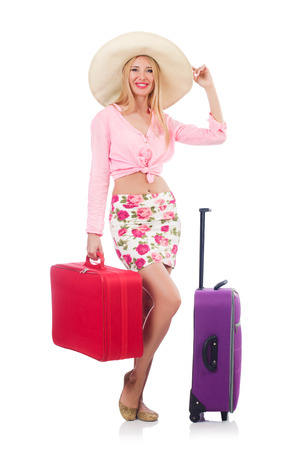 Woman preparing for travel on summer vacation Stock Photo - 22939768