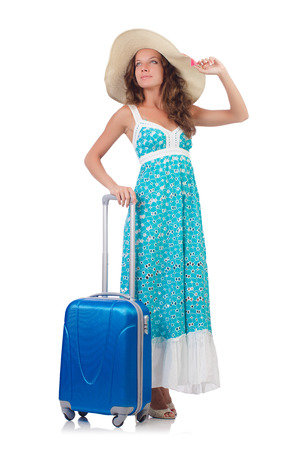 Woman preparing for travel on summer vacation Stock Photo - 22939779