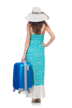 Woman preparing for travel on summer vacation Stock Photo - 22872556