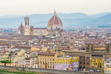 Florence cityscape in dusk hours Stock Photo - 22864474