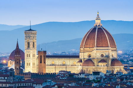 Florence cityscape in dusk hours Stock Photo - 22872845