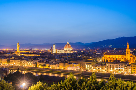 Nice view of florence during evening hours Stock Photo - 22872937