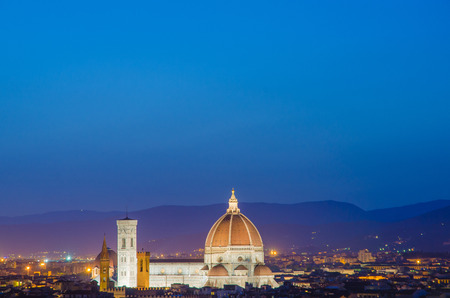 Nice view of florence during evening hours Stock Photo - 22872950