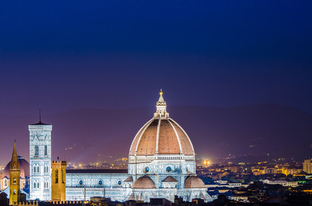 Nice view of florence during evening hours Stock Photo - 22872959