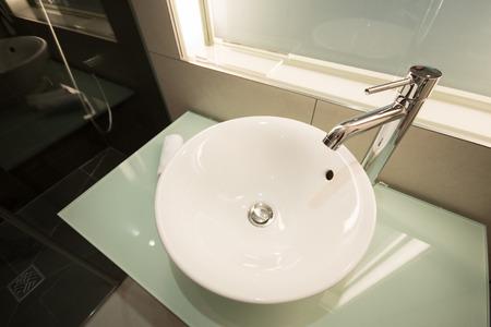 Modern sink in the bathroom photo