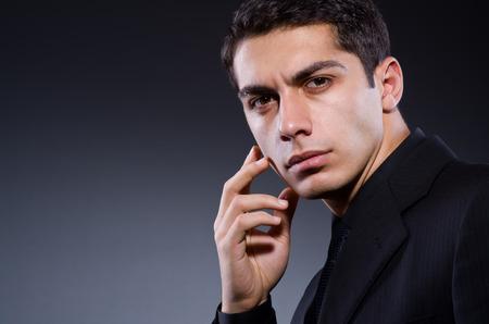 Handsome man in studio shooting Stock Photo - 23082358