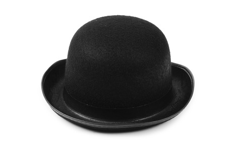 Black tophat top hat isolated on the white photo