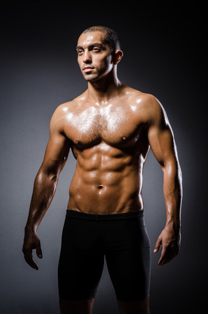 Ripped young man in bodybuilding concept Stock Photo - 22860959