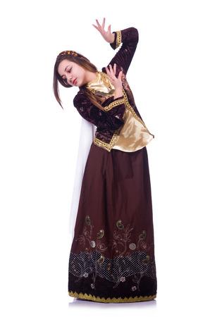 Young lady dancing traditional azeri dance Stock Photo - 22866677