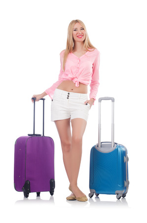 Woman preparing for travel on summer vacation Stock Photo - 23082569