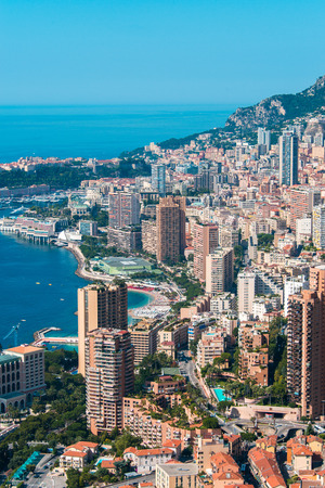 Monte Carlo view on summer day photo