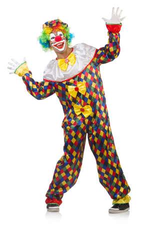 Lustiger Clown auf weißem