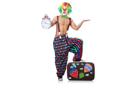 Funny clown isolated on the white photo