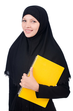 Young muslim female student with books Stock Photo - 23137027
