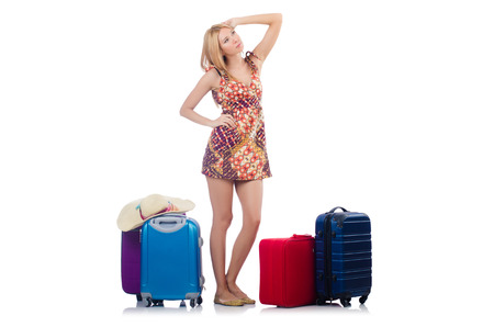 Woman preparing for travel on summer vacation Stock Photo - 23137060