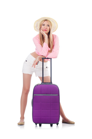 Woman preparing for travel on summer vacation Stock Photo - 23137137