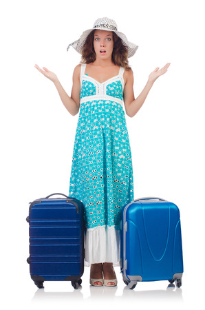 Woman preparing for travel on summer vacation Stock Photo - 23137141