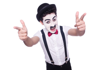 chaplin: Personification of Charlie Chaplin on white